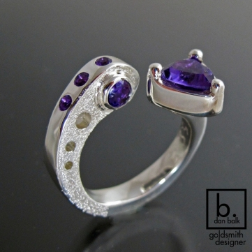 Handmade custom silver ring by Dan Balk