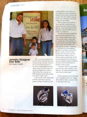 Tampa Bay Metro Magazine Artist Profile Dan Balk Jewelry Summer 2012 1304.jpg