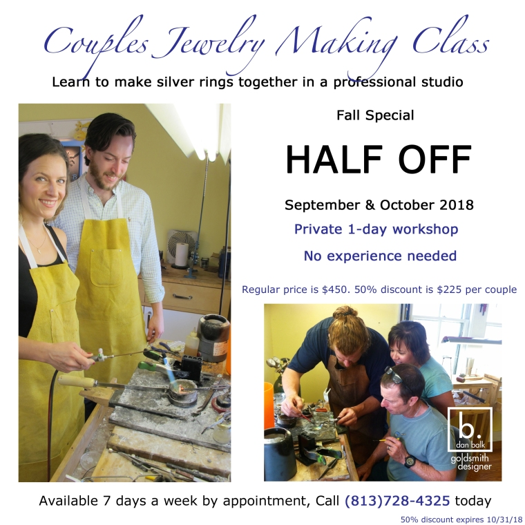 Couples Jewelry Making Class Fall Discount