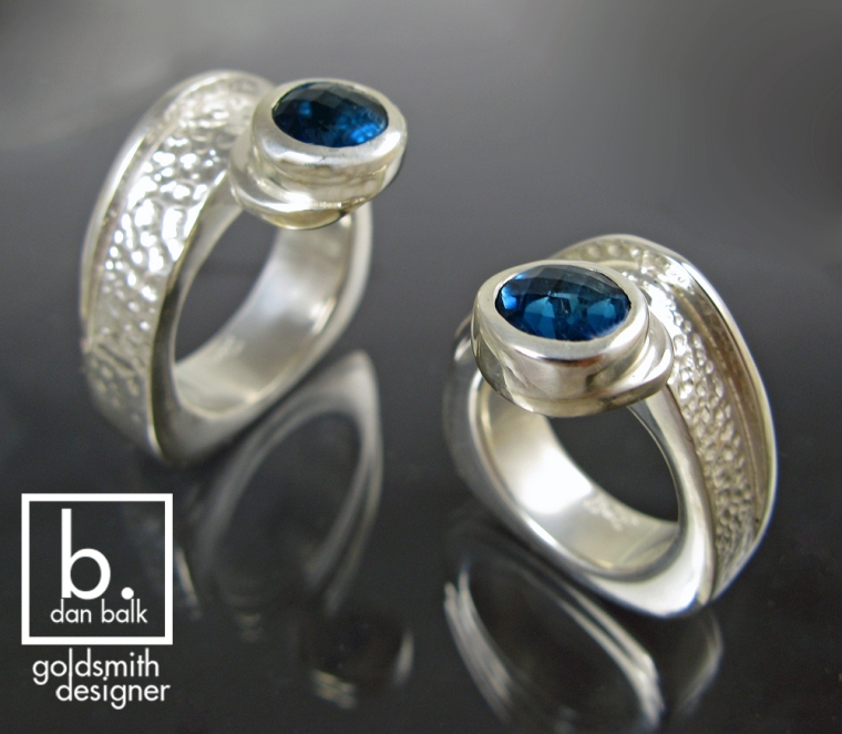 Dan Balk hand makes unique rings for couples