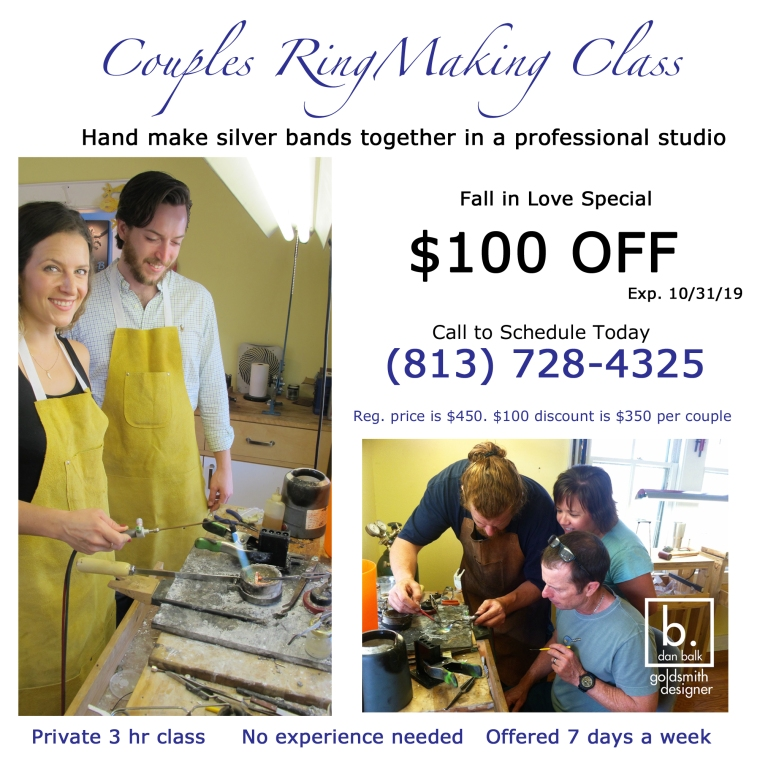 $100 off Fall in Love Couples Jewelry Making Class by Dan Balk