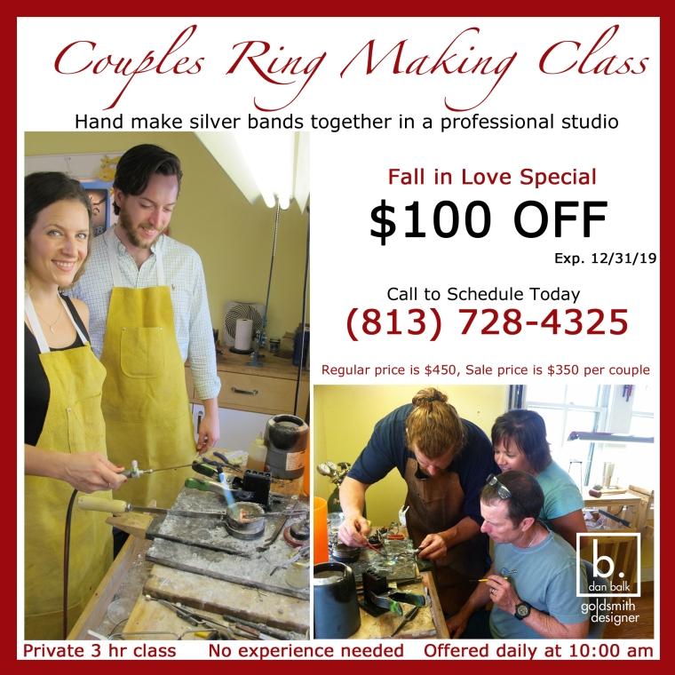Dan Balk Jewelry Studio Couples Ring Making Classes