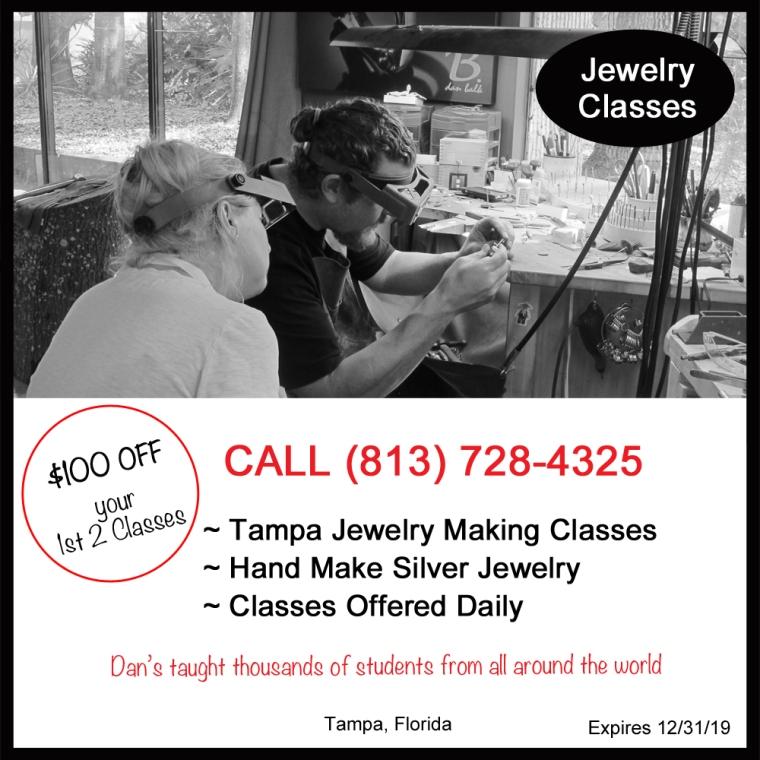 Dan Balk Jewelry Studio Jewelry Making Classes, Silversmithing in Tampa