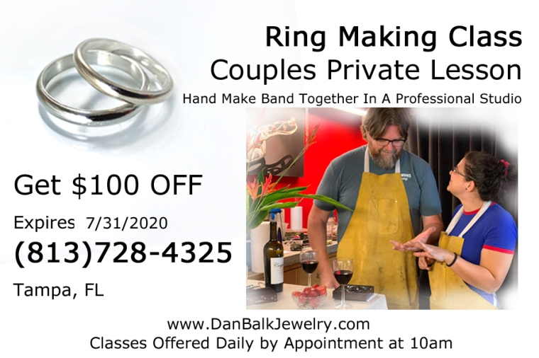 Private Ring Making Class Couples Jewelry Making Dan Balk Jewelry Summer of Love 2020